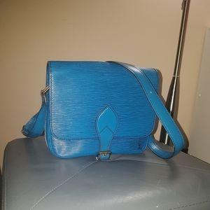 Louis Vuitton Blue Epi Cartouchiere MM